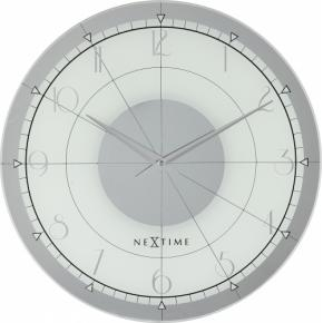 Image for product 'NeXtime 8125 Fancy Round [Ø43 cm, White/Silver]'