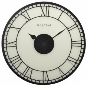 Image for product 'NeXtime 8146 Big Ben, frosted glass [Ø43 cm, matt-white/ black]'