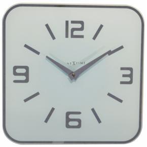 Image for product 'NeXtime klok 8149wi Shoko, 43x43 cm, Wall, White/ Silver'