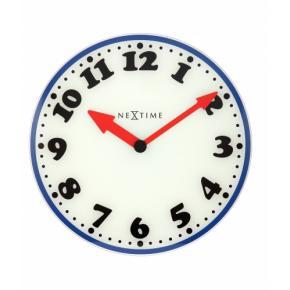 Image for product 'NeXtime klok 8151 Boy, Ø43 cm, Wall, White/ Blue/ Black/ Red'