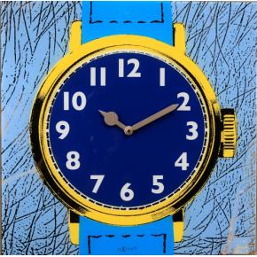 Image for product 'NeXtime 8157 Watch One [43x43.2 cm, Blue/ Yellow]'