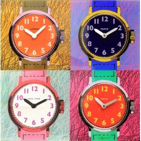 Image for product 'NeXtime 8158 Time Zones [43x43.4 cm, Multi-color]'