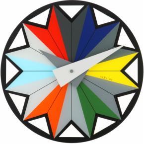 Image for product 'NeXtime klok 8163 Circus, Ø43 cm, Wall, Black/ Multi-color'