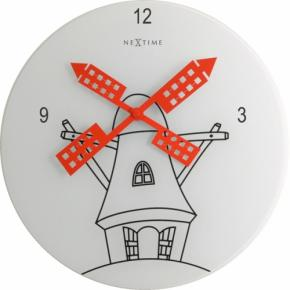 Image for product 'NeXtime 8807 Windmil [Ø30 cm, White/ Black/ Red]'
