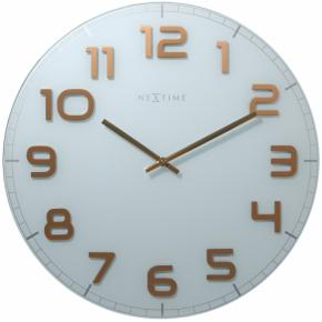 Image for product 'NeXtime 8817wc Classy Round [Ø30 cm, White/ Copper]'