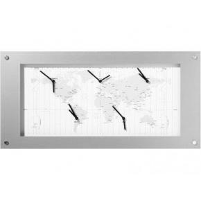 Image for product 'NeXtime B1009065 Time Zone [39x90 cm, White/ Silver]'