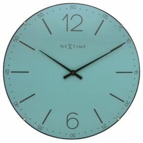 Image for product 'NeXtime 3159tq Index Dome wandklok [Ø35 cm, 5cm, Glas, Turquoise]'
