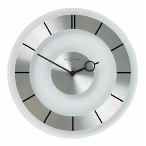 Image for product 'Nextime 2790 Retro wandklok [Ø31, 3 cm, Glass, Transparent/ Metallic]'