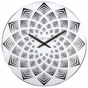 Image for product 'Nextime 3130 Bloom wandklok [Ø39, 3 cm, Black]'