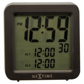 Image for product 'Nextime 5201zw Square Alarm Radio Controlled [9x9 cm, Black]'