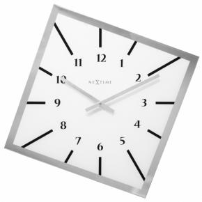 Image for product 'Nextime 8176wi Off Balance Wit Wall clock [54,5 x 54,5, cm, Glass, White]'