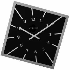 Image for product 'Nextime 8176zw Off Balance Wall clock [54,5x54,5 cm, Glass, 3 cm, Black]'