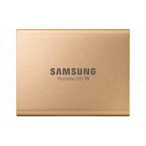 Image for product 'Samsung MU-PA1T0G/EU T5 SSD [1 TB, USB Type-C, 3.2 Gen 2, 540 MB/s, Password protect, Gold]'