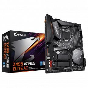 Image for product 'Gigabyte Z490 AORUS ELITE AC [ATX, Intel LGA1200, Z490, 4x DDR4 DIMM, USB 3.2, BT, WiFi 6, 2.5 GBe]'