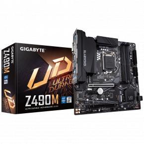 Image for product 'Gigabyte Z490M [mATX, Intel LGA1200, Z490, 4x DDR4 DIMM, USB3.2, M.2, SATA3, GBLAN]'