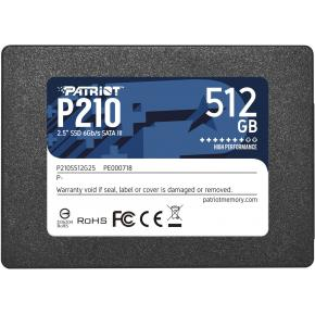 "Image for product 'Patriot P210S512G25 P210 SSD [512GB, 2.5"", SATA3]'"