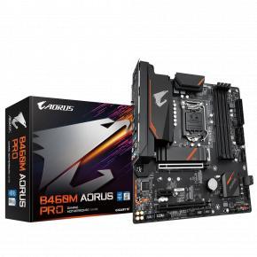 Image for product 'Gigabyte B460M AORUS PRO [mATX, LGA1200, Intel® B460m, 4x DIMM DDR4, 2933Mhz, GBLAN, USB3.1]'