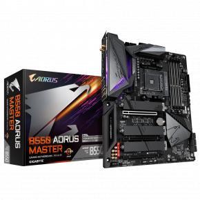 Image for product 'Gigabyte B550 AORUS MASTER [ATX, AM4, AMD Ryzen, 4x DDR4 DIMM, 3200 Mhz, USB3.2, GBLAN, BT, WiFi]'