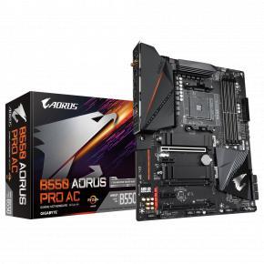 Image for product 'Gigabyte B550 AORUS PRO AC [ATX, AMD AM4, Ryzen, 4x DDR4 DIMM, 5000 MHz, M.2, USB3.2, WiFi/2.5Gbe]'