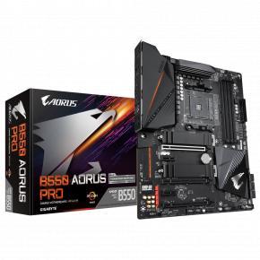 Image for product 'Gigabyte B550 AORUS PRO [ATX, AMD AM4, Ryzen, 4x DDR4, USB3.2 Gen 2, M.2, GBe, TPM]'
