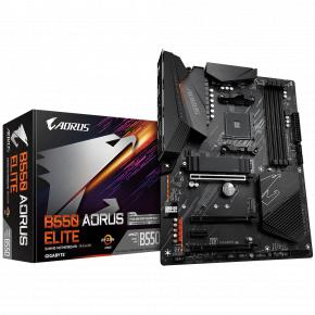 Image for product 'Gigabyte B550 AORUS ELITE [ATX, AMD AM4, Ryzen, 4x DDR4 DIMM, 3200 MHz, SATA3, USB3.2, 2.5 Gbe]'