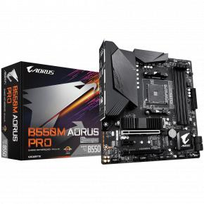 Image for product 'Gigabyte B550M AORUS PRO [mATX, AM4, AMD Ryzen, 4x DDR4 DIMM 4733 MHz, M.2, USB3.2 Gen2, GBLAN, TPM]'
