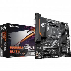 Image for product 'Gigabyte B550M AORUS ELITE [mATX, AM4, AMD Ryzen, 4x DDR4 DIMM, 4733 MHz, M.2, USB3.1, GBLAN, TPM]'