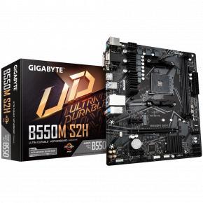 Image for product 'Gigabyte B550M S2H [mATX, AM4, AMD Ryzen, 2x DDR4 SO-DIMM, 5000 MHz, M.2, USB3.1, GBLAN, TPM]'