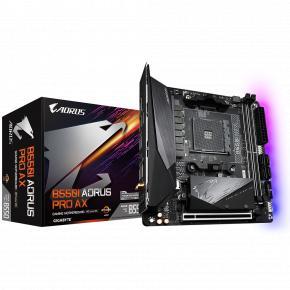 Image for product 'Gigabyte B550I AORUS PRO AX [ATX, AM4, AMD Ryzen, 2x DDR4 DIMM, 5000 MHz, M.2, USB3.1, WiFi/ GBLAN]'