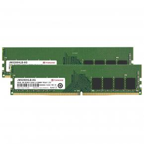 Image for product 'Transcend JM3200HLB-16GK JetRam KIT [16GB, DDR4 3200Mhz, U-DIMM, 1Rx8, 1Gx8, CL22, 1.2V]'