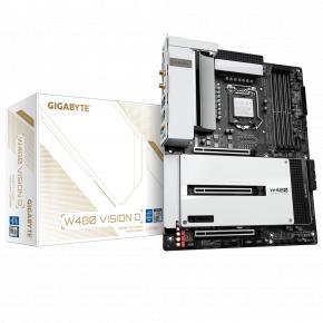 Image for product 'Gigabyte W480 VISION D [Intel LGA1200, W480, DIMM DDR4-4266, M.2, USB3.2 Gen2, WiFi, TPM]'