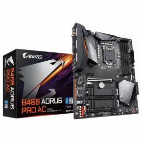 Image for product 'Gigabyte B460 AORUS PRO AC [Intel, LGA1200, DIMM DDR4-2933, M.2. USB3.1 Gen2, WiFi, BT, TPM]'
