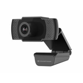 Image for product 'Conceptronic AMDIS01B Full HD Webcam with Microphone [USB, 2 MP, 1920 x 1080p 30 fps, H.264, 90°]'