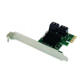 Image for product 'Conceptronic EMRICK03G 4-Port SATA Adapter w/ SATA Cable [PCIe 2.0, SATA3, 6 Gbit/s, ASMedia106]'