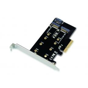 Image for product 'Conceptronic EMRICK05B M.2 NVMe SSD Adapter [PCIe 3.0, M.2, Passive, China, 32 Gbit/s]'