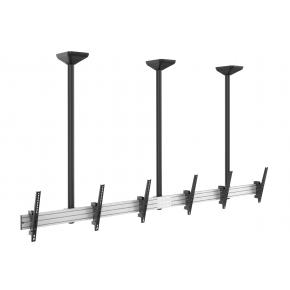 "Image for product 'Equip 650374 Triple Screen Ceiling Mount [45"" - 50"", 200 x 200/ 600 x 400 mm, 0 - -20°, Alu, Black]'"