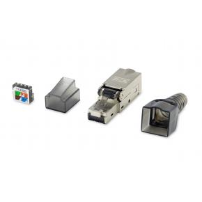 Image for product 'Equip 121171 Network & Telco Adapter [RJ-45, Nickel, Male, Straight, Metal, Plastic, Cat6a]'