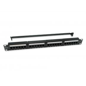 Image for product 'Equip 135426 1U Patch Panel, Cat6, 22/26, Black, ABS synthetics, Steel, Rack mounting'