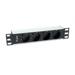 Image for product 'Equip 333311 1U Basic Power Distribution Unit [4 AC outlet(s) Horizontal, Aluminium, Black, Silver]'