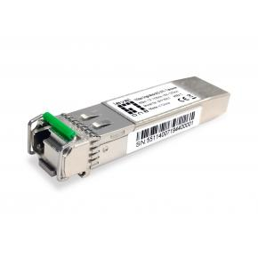 Image for product 'Levelone SFP-6551 10Gbps Single-mode BIDI SFP+ Transceiver, 60km, TX 1330nm / RX 1270nm'