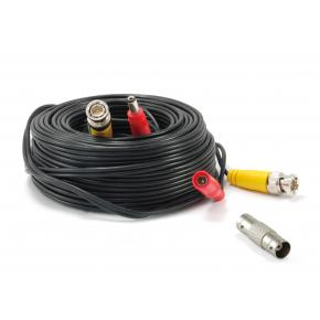 Image for product 'Levelone CAS-5018 BNC Video Power Cable, BNC+DC/M to BNC+DC/F, 18m, Black'