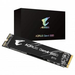 Image for product 'Gigabyte GP-AG42TB AORUS M.2 SSD w/ copper heatsink [2TB, NVMe Gen4, 5000/4400 MB/s, 750K IOPS]'