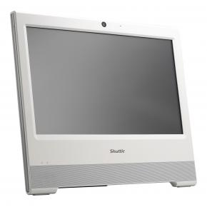 """Image for product 'Shuttle X50V7 (white) XPC All-in-One Barebone PC [15.6"""", Intel BGA 1528, 2x DDR4 SO-DIMM, M.2, 65 W]'"""