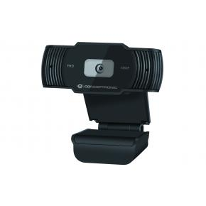 Image for product 'Conceptronic AMDIS04B AMDIS 1080P Full HD Webcam w/ Microphone [USB2.0, 1920 x 1080p, 30 fps]'