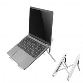 """Image for product 'Neomounts by Newstar NSLS010 Foldable Notebook Desk Stand, 11""""-17"""", 5 kg, 279.4 - 431.8 mm, Silver'"""