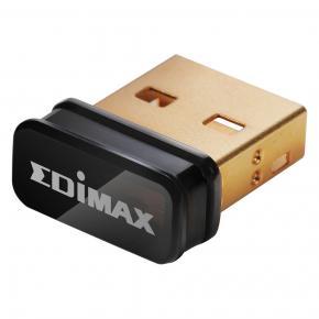 Image for product 'Edimax EW-7811UN V2 N150 Wi-Fi 4 Nano USB Adapter [802.11e WMM Wireless QoS, Black]'