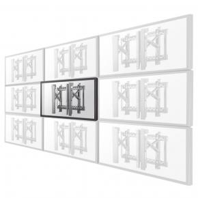"Image for product 'Newstar LED-VW2500BLACK1 Flat screen video wall mount [70 kg, 32"" - 75"", 200x200/ 600x400 mm]'"