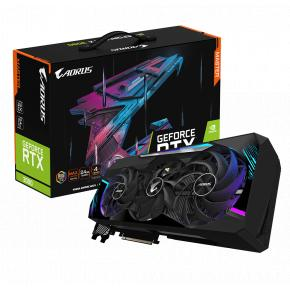 Image for product 'Gigabyte GV-N3090AORUS M-24GD Nvidia GeForce RTX 3090 [PCIe4.0, 24 GB, GDDR6X, 384 bit, 750 W]'