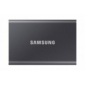 Image for product 'Samsung MU-PC1T0T/WW T7 Portable SSD [1000 GB, USB Type-C, 3.2 Gen 2, 1050 MB/s, Password, Grey]'