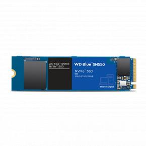 Image for product 'Western Digital WDS250G2B0C SN550 Blue SSD, 250GB, PCIe, M.2/ NVMe, 2400/ 950 MB/s'